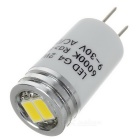 G4 2W 2-5730 SMD Cold White Light Crystal Lamp / Corridor Lamp (5PCS)