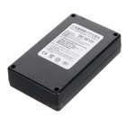 Rechargeable DC 0512 12.6V  3800mAh Battery w/ Switch / LED Light - Black