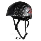 MOON Outdoor Cycling Roller-Skating Helmet w/ Warning Light - White + Black + Multicolor