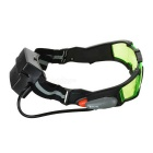 CTSmart Wind-proof Sand-proof Children Night Vision Goggles w/ Lamp for Skiing / Cycling - Green