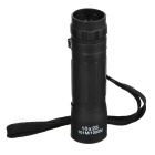 CTSmart 10X25 Outdoor Sports 10X Magnification Monocular Telescope w/ Waist Bag - Black