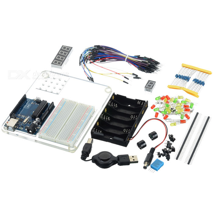 UNO R3 Starter Learning Kit for Arduino - Multi-Colored (Works with Official Arduino Boards)