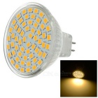 MR16 3W 60-3528 SMD 339lm 3500K Warm White LED Light - Orange + White (AC 220V)