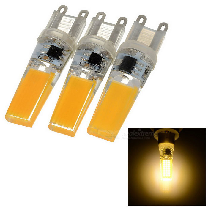 G9 5W 21-2508 COB 345lm 3000K Warm White Double Side Lighting Silicone Bulb (AC 220V / 3PCS)