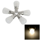 E14 3W 26-2835 SMD 300lm 3200K Warm White Mini Refrigerator / Bedside Bulbs Lights (AC 220V / 5PCS)