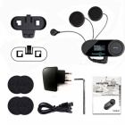 TCOM-SC 800m Bluetooth Moto Casco Interphone Set - Negro