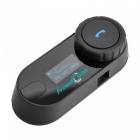 TCOM-SC 800m BT Motorbike Intercom Headset w/ FM / LCD - Black + Blue