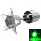 CTSmart Fashion Star Style Green Light LED Luminous Ear Stud Earring for Party / Bar - Silver