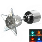 CTSmart Fashion Star Style Colorful Light LED Luminous Ear Stud Earring for Party / Bar - Silver