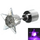 CTSmart Fashion Star Style Purple Light LED Luminous Ear Stud Earring for Party / Bar - Silver