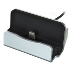 Phone Charging Dock w/ Type-C USB 3.1 Data Charging Cable - Black + Silver