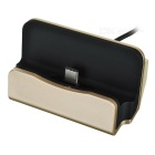 Phone Charging Dock w/ Type-C USB 3.1 Data Charging Cable - Champagne + Black (90cm)