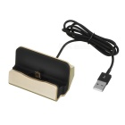 Double-Sided Micro USB 5Pin V8 Data Sync & Charging Dock Station for Android - Champagne + Black