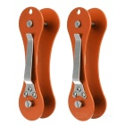 Outdoor Folding Aviation Aluminum Keys Holder Organizer - Orange (2pcs)