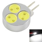 G4 3W 240lm 6000K 3-COB White Light LED Small Spotlights - Silver + Black (DC 12V)
