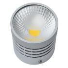 Jiawen 5W 450lm 3200K COB Warm White Light Round Ceiling Light - Silver (AC 85~265V)