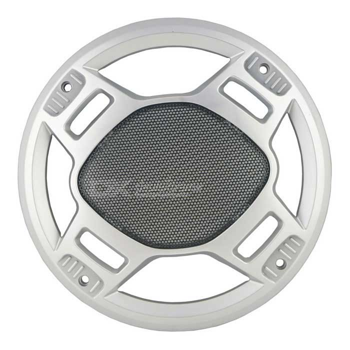 Auto Car Dustproof 8.8 Diameter Horn Cover Hood Speaker Subwoofer GrillAudio Accessories<br>Form  ColorBlack + SilverModelN/AQuantity1 DX.PCM.Model.AttributeModel.UnitMaterialPlasticFunctionCar Horn Dustproof CoverPacking List1 x Car Horn Dustproof Cover<br>