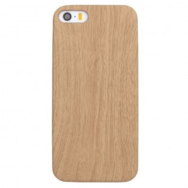 ASLING Ultra Thin Soft PU Leather Case for IPHONE 5 / 5S - Wood Color