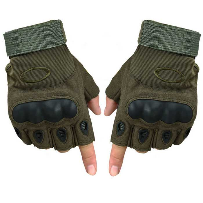 Half Finger Tactical Gloves Grapple Antiskid Cut Resistant Outdoor Sport Riding Gloves (XL / Pair)