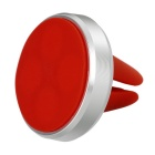 360' Rotary Air Vent Magnetic Fast Swift-Snap Car Mount Holder for Smartphone & GPS - Silver + Red