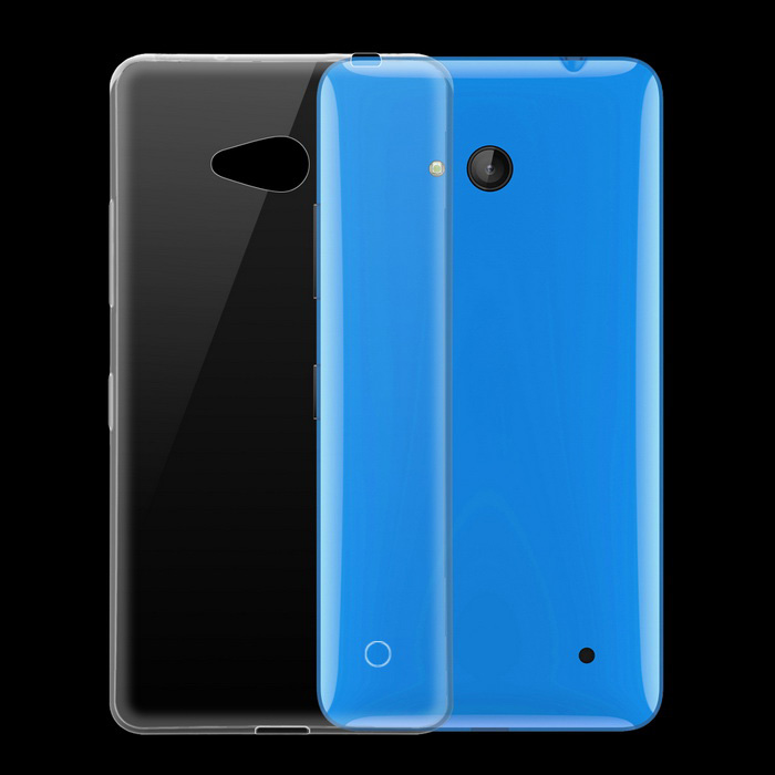Ultra-thin Protective TPU Back Cover Case for Microsoft Lumia 640 - Transparent