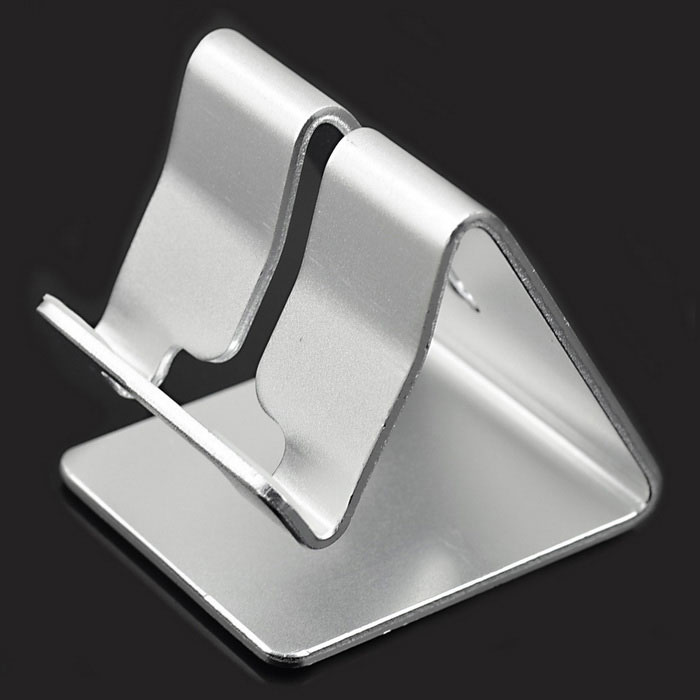 Aluminum Desktop Stand Holder for Tablet PC - Silver