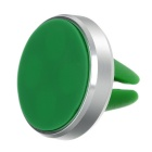 360' Rotary Air Vent Magnetic Fast Swift-Snap Car Mount Holder for Smartphone & GPS - Silver + Green