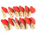 Creative Decoration Love Small Clip (12 PCS)