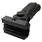 Nouveau combat ergonomique Sniper Pistol Grip w / Compartiment Bottom - Noir (20mm Caliber)