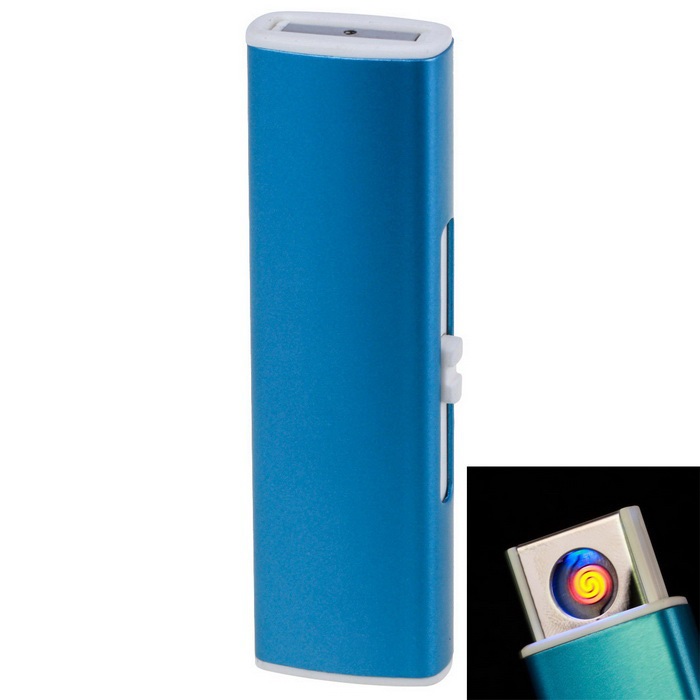 USB Rechargeable Arc Windproof Electronic Cigarette Lighter - Blue