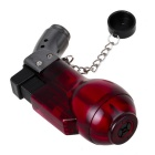 Fashion Transparent Windproof Gas Lighter - Wine Red