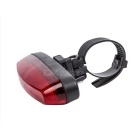 4-Mode 5-LED Red Light Bicycle Safety Tail Light w/ Bike Mount - Red + Black