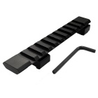 11mm to 20mm Gun Rail Dovetail Adapter - Black