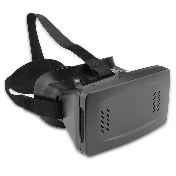 Plastic VR Virtual Reality 3D Glass for 3.5-6 Phone3D Glasses<br>Form  ColorBlackMaterialPlasticQuantity1 DX.PCM.Model.AttributeModel.UnitShade Of ColorBlackTypeOthers,VR 3D GlassPowered ByPower FreeBattery LifeN/A DX.PCM.Model.AttributeModel.UnitPacking List1 x 3D Glass1 x Headbelt<br>