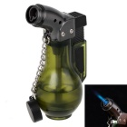 Fashion Transparent Windproof Gas Lighter - Dark Green