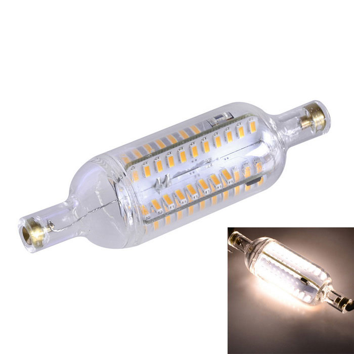 Marsing R7S Dimmable 7W 700lm 3500K 76-SMD 4014 LED Warm White Light Bulb Lamp (AC 220-240V)