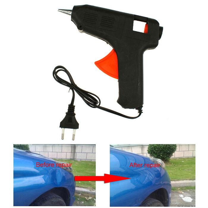Magic DIY Car Dents Repair Tool / Car Damage Removal Kit w/ Glue Stick Gun - Black