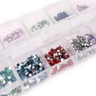 Creative Nail Stickers Sparkle Taladro Broken (12 colores)