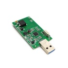 Cwxuan Mini PCI-E mSATA to USB 3.0 External SSD PCBA Conveter Adapter Card w/o Case - Green