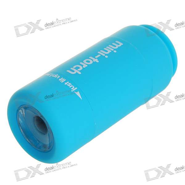 USB Rechargeable 2-Mode 20-Lumen Convex Lens LED Flashlight