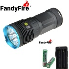 FandyFire 8-LED R8 8000lm 4-Mode Cool White Light Flashlight - Blue + Grey (4*18650)