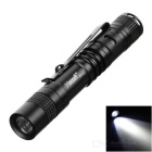 HUGSBY XP-E R3 LED 100lm 1-Mode Cold White Light Mini Flashlight w/ Clip - Black + White (1*AAA)