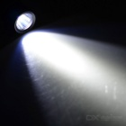 HUGSBY XP-E R3 LED 100lm 1-Mode Cool White Luz Mini Flashlight w / Clip - Black + White (1 * AAA)
