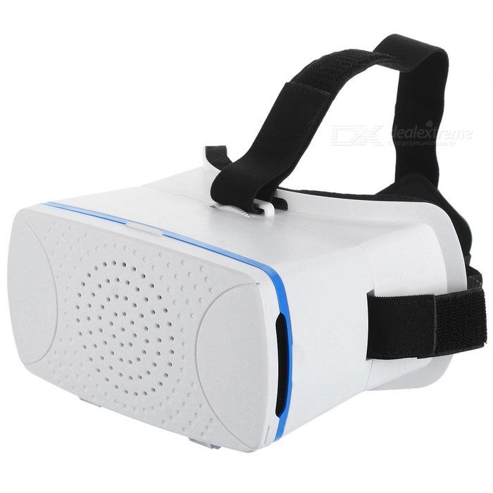 VR Glasses 3D VR Headset with Sponge Pad for Mobile Phone - White