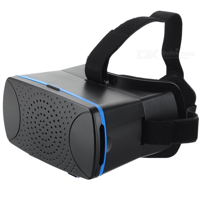 VR Glasses 3D VR Headset with Sponge Pad for Mobile Phone - Black