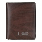 Men's Split Leather Folding Wallet - Coffee