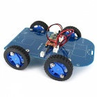 N20 Gear Motor 4WD Bluetooth Controle Smart Robot Car Kit w / Tutorial para Arduino - Azul + Preto