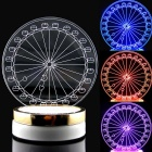 Color Change LED Ferris Wheel Creative 3D Optical Illusion Pattern Atmosphere Table Lamp