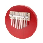 Kalimba 8-Key Adjustable Round Thumb Piano - Red
