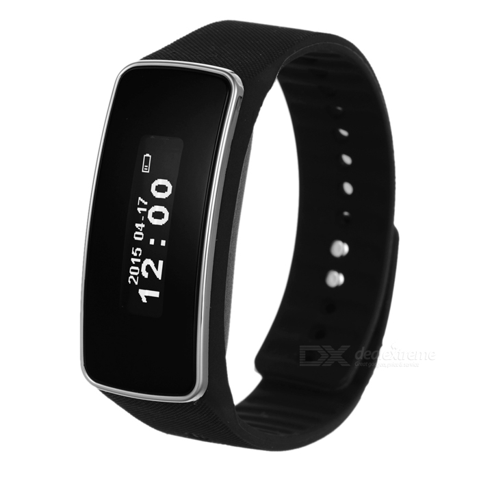V5S OLED Bluetooth V4.0 pulseira inteligente w / sleep esportes Tracking preto